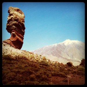 Mount Teide. Notice the snow.