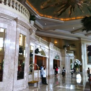 The Peninsula's Grand Lobby. See the sailors??